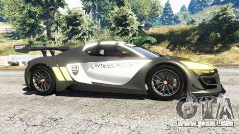 GTA 5 Renault Sport RS 01 2014 Police Interceptor [r] vista lateral izquierda