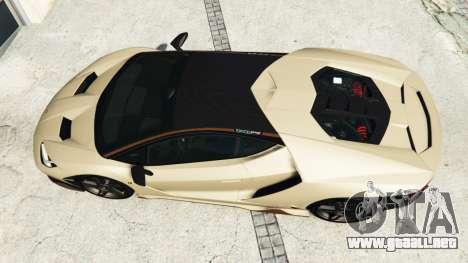 GTA 5 Lamborghini Centenario LP770-4 2017 v1.3 [r] vista trasera