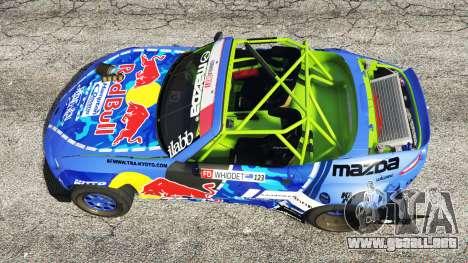 GTA 5 Mazda MX-5 (ND) RADBUL Mad Mike [replace] vista trasera