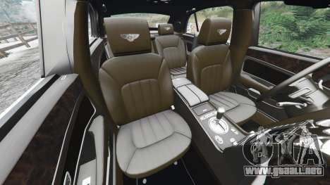 GTA 5 Bentley Flying Spur [add-on] delantero derecho vista lateral