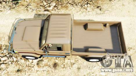 GTA 5 Toyota Land Cruiser (J79) 2016 vista trasera