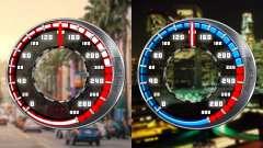 Velocímetro GTA SA Estilo V16x9 (widescreen)