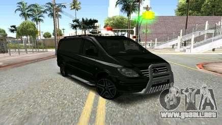 Mercedes-Benz Vito чёрный para GTA San Andreas