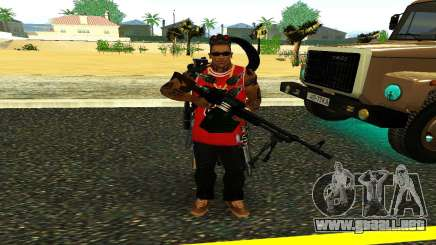 PKM Negro para GTA San Andreas