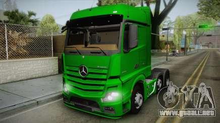 Mercedes-Benz Actros Mp4 6x2 v2.0 Bigspace para GTA San Andreas