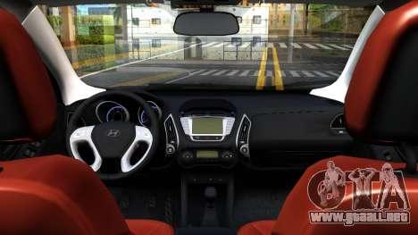 Hyundai ix35 Aze para GTA San Andreas vista hacia atrás