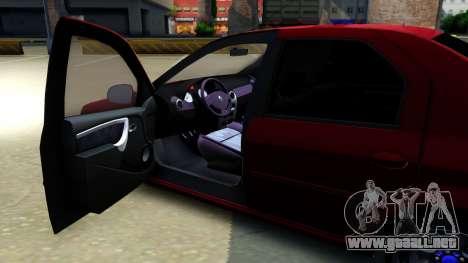 Renault Logan para visión interna GTA San Andreas