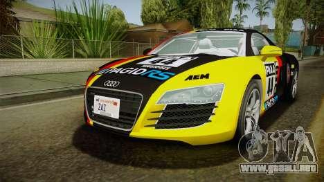 Audi R8 Coupe 4.2 FSI quattro EU-Spec 2008 YCH para las ruedas de GTA San Andreas