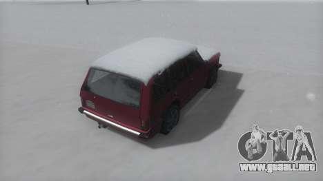Huntley Winter IVF para GTA San Andreas vista posterior izquierda