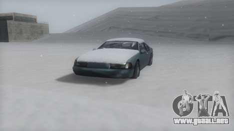 Fortune Winter IVF para GTA San Andreas vista posterior izquierda