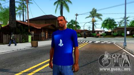 T-Shirt PS4 para GTA San Andreas
