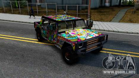 Sticker Patriot para GTA San Andreas