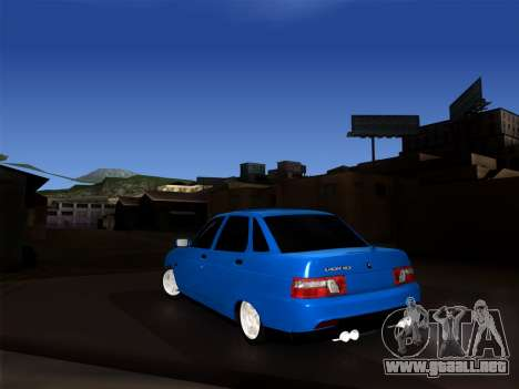 VAZ 2110 BPAN para GTA San Andreas vista posterior izquierda