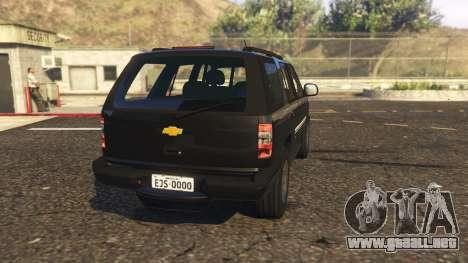 GTA 5 Chevrolet Blazer 4x4 vista lateral izquierda trasera