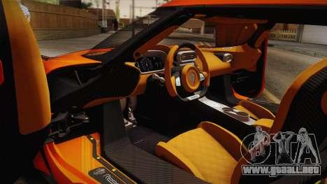 Koenigsegg Regera 2016 Bonus para GTA San Andreas vista posterior izquierda