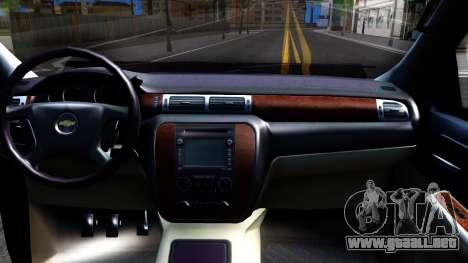Chevrolet HD 3500 2013 para visión interna GTA San Andreas