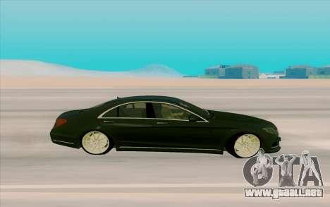 Mercedes Benz S63 para GTA San Andreas left