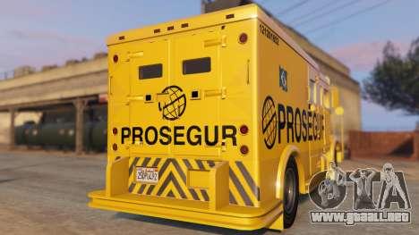 GTA 5 Carro Forte Prosegur Brasil vista lateral izquierda trasera