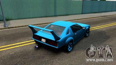 New Buffalo Custom para GTA San Andreas vista posterior izquierda