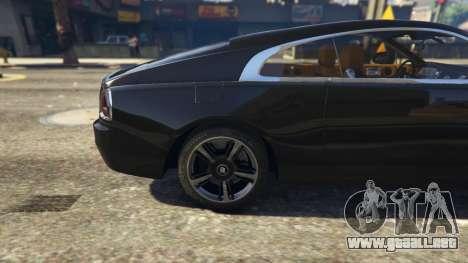 GTA 5 Rolls-Royce Wraith 2015 vista lateral trasera derecha