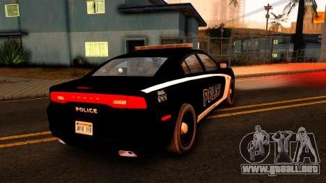 2014 Dodge Charger Cleveland TN Police para GTA San Andreas vista posterior izquierda