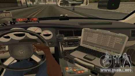 Dodge Charger County Sheriff para vista lateral GTA San Andreas