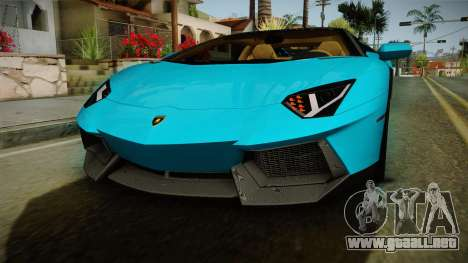 Lamborghini Aventador Itasha Rias Gremory para la vista superior GTA San Andreas