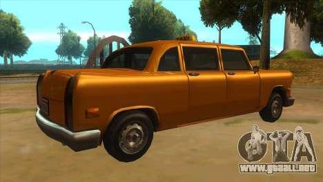 VC Cabbie Xbox para la visión correcta GTA San Andreas