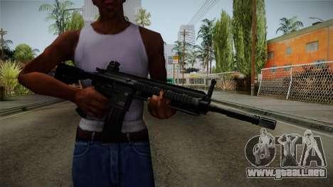 HK416 v1 para GTA San Andreas tercera pantalla