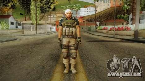 Resident Evil 6 - Chris Asia Bsaa para GTA San Andreas segunda pantalla