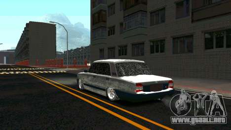 2107 Clásico de la 2 edición de Invierno para GTA San Andreas vista posterior izquierda