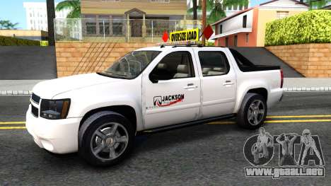 2007 Chevy Avalanche - Pilot Car para GTA San Andreas left