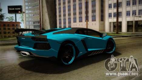 Lamborghini Aventador Itasha Rias Gremory para GTA San Andreas left