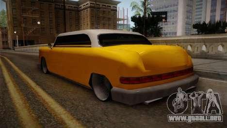 Custom Cab para GTA San Andreas vista posterior izquierda