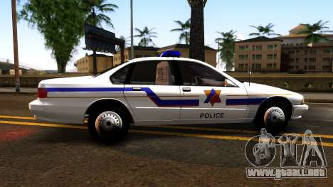 Chevy Caprice Hometown Police 1996 para GTA San Andreas left