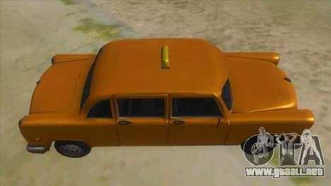 VC Cabbie Xbox para visión interna GTA San Andreas
