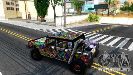 Sticker Patriot para GTA San Andreas vista posterior izquierda