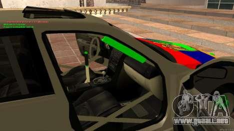 Toyota Altezza Armenian para visión interna GTA San Andreas