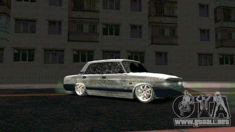 2107 Clásico de la 2 edición de Invierno para GTA San Andreas vista hacia atrás