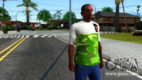 Design Camouflage T-Shirt para GTA San Andreas segunda pantalla