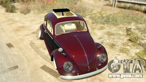 GTA 5 Volkswagen Beetle vista trasera
