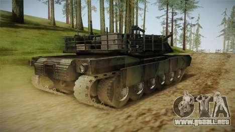 Abrams Tank Woolant Camo para GTA San Andreas vista posterior izquierda