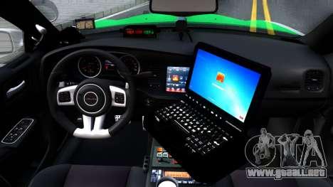 Dodge Charger German Police 2013 para visión interna GTA San Andreas