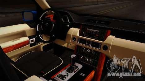Range Rover 2008 para visión interna GTA San Andreas