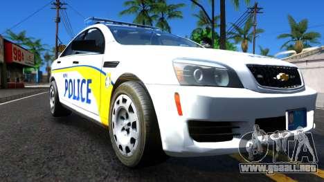 Chevy Caprice Metro Police 2013 para la visión correcta GTA San Andreas