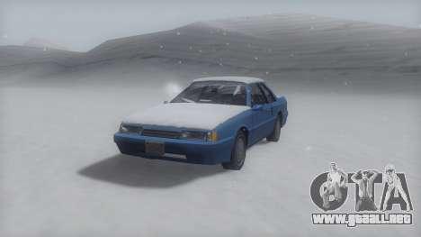 Previon Winter IVF para GTA San Andreas vista posterior izquierda
