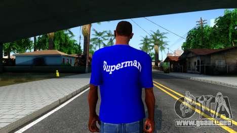 T-Shirt SuperMan para GTA San Andreas tercera pantalla