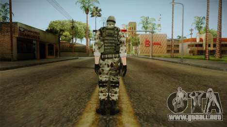 Resident Evil ORC Spec Ops v2 para GTA San Andreas tercera pantalla