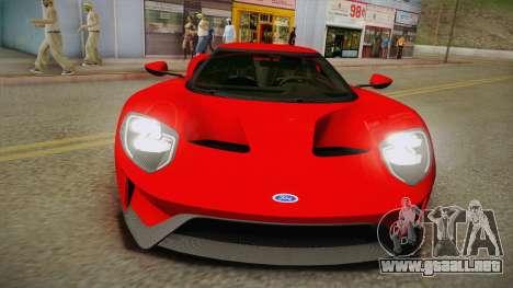 Ford GT 2017 No Stripe para la visión correcta GTA San Andreas