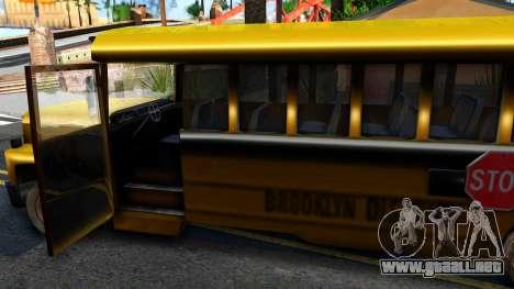 School Bus Driver Parallel Lines para visión interna GTA San Andreas